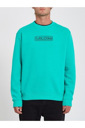 Volcom Men Sweatshirts - Men's Catch 91 Sweatshirt - ATLANTIS