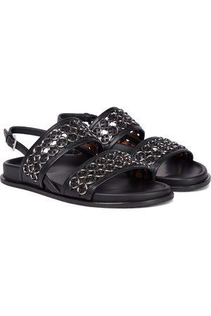 Alaïa Embellished leather sandals