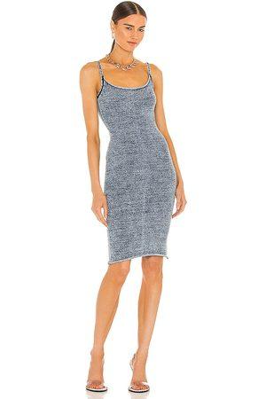 Knorts Denim Knitwear X REVOLVE Pencil Spaghetti Strap Dress in . Size 2, 3, 4.