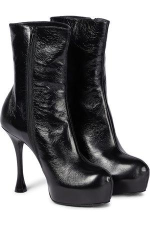 MAGDA BUTRYM Women Heeled Boots - Platform leather stiletto boots