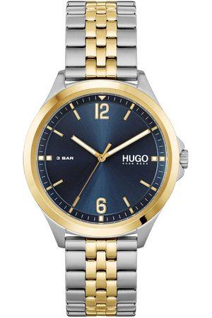 HUGO BOSS Blue Dial Gold Tone Bezel Stainless Steel Two Tone Bracelet Watch