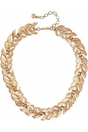 Susan Caplan Vintage Women Necklaces - 1960s leaf motif necklace