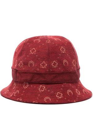 Marine Serre Men Hats - Moon pattern denim bucket hat
