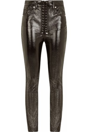 Dolce & Gabbana Coated lace-up skinny trousers
