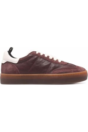 Officine creative Women Trainers - Panelled low-top leather sneakers