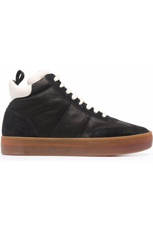 Officine creative Women Trainers - Kombined high-top leather trainers