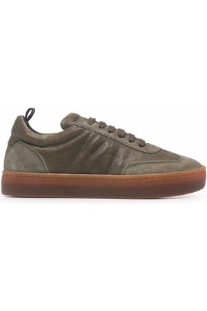 Officine creative Kombined leather trainers