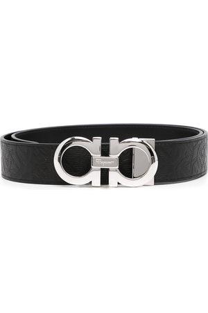 Salvatore Ferragamo Men Belts - Logo-buckle leather belt