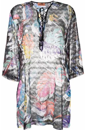 Missoni Women Beach Dresses - Woven-effect kaftan beach cover-up - S90LC