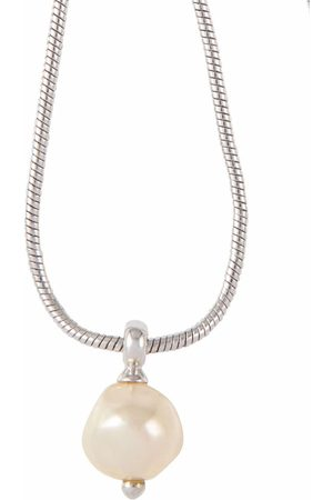 Christian Dior 1990s pre-owned baroque faux-pearl snake-chain necklace