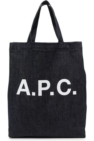A.P.C. Women Handbags - Logo-print denim tote