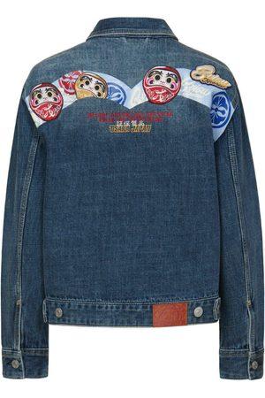 Evisu Women Denim Jackets - Daruma Daicock Denim Jacket