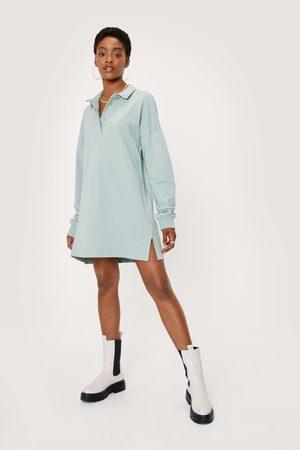 NASTY GAL Womens Oversized Polo Shirt Dress