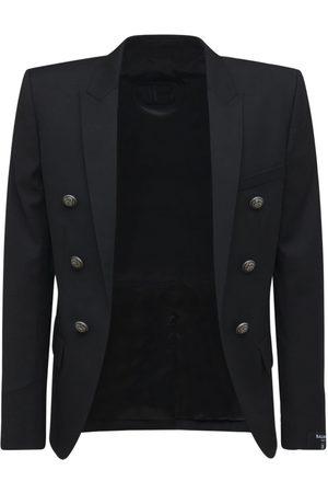 Balmain Men Blazers - Collection Fit Wool Blazer