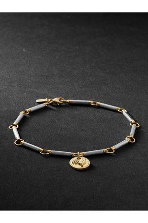 Foundrae Men Bracelets - 18-Karat White and Yellow Gold Bracelet