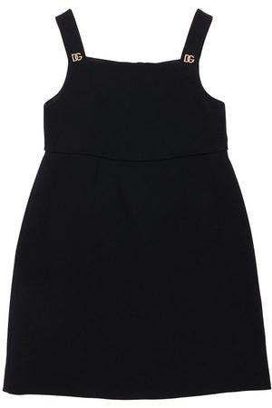 Dolce & Gabbana Logo Sleeveless Viscose Blend Dress