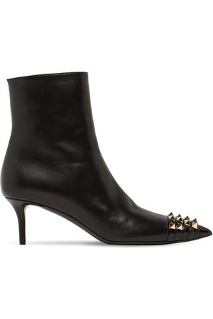 VALENTINO GARAVANI Women Ankle Boots - 60mm Rockstud Alcove Leather Ankle Boots