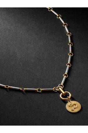 Foundrae Men Necklaces - Wholeness 18-Karat Gold, Onyx and Diamond Necklace