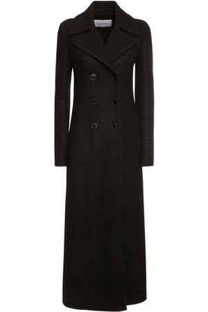 VALENTINO Wool Blend Double Breast Long Coat