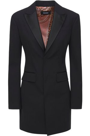 Dsquared2 Stretch Wool Fitted Blazer Dress