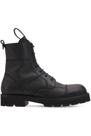 Dolce & Gabbana Men Boots - Bernini Leather Combat Boots
