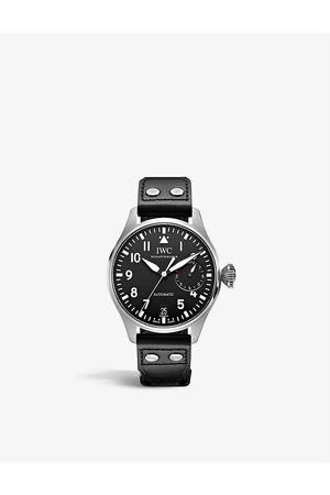 IWC SCHAFFHAUSEN Men Watches - IW501001 Big Pilot stainless-steel and leather automatic watch