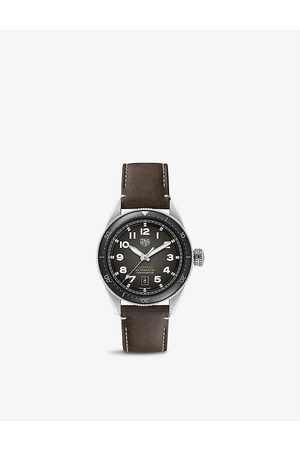 Tag Heuer Men Watches - WBE5114.FC8266 Autavia stainless steel and leather automatic watch