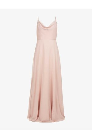 Jenny Yoo Women Evening Dresses - Colby cowl-neck chiffon gown