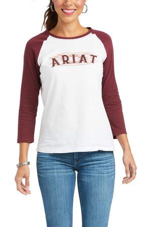 Ariat Women T-shirts - Women's REAL Southwest Baseball Tee Shirt Long Sleeve in