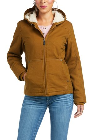Ariat Women's R.E.A.L. Outlaw Jacket Long Sleeve in Kelp Forest Cotton