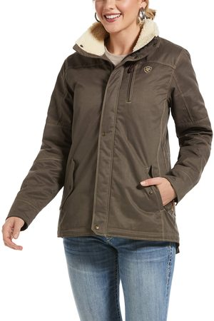 Ariat Women's REAL Grizzly Jacket Long Sleeve in Banyan Bark