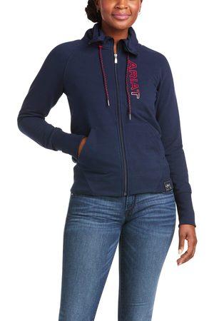 Ariat Women Hoodies - Women's Team Logo Full Zip Sweatshirt Long Sleeve in