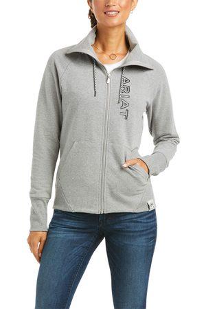 Ariat Women Hoodies - Women's Team Logo Full Zip Sweatshirt Long Sleeve in Heather