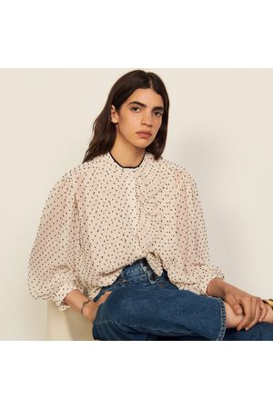 Floaty shirt with jabot collar