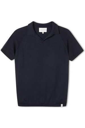 Peregrine Knitted Emery Polo Navy