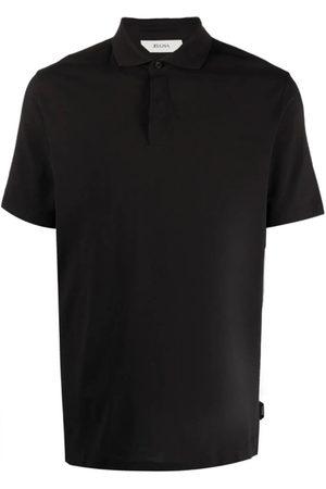 Z Zegna Men Polo Shirts - Short-Sleeved Cotton Polo Shirt