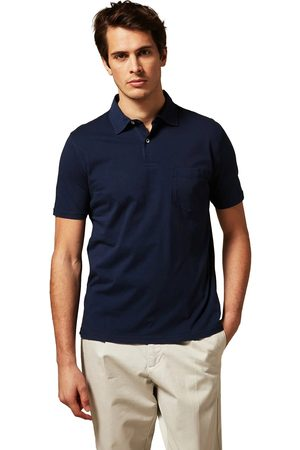 HARTFORD Men Polo Shirts - Jersey Knitted Polo Navy