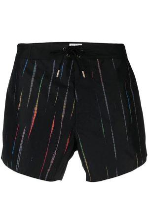 Saint Laurent Men Swim Shorts - Tie-Dye Swim Trunks