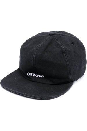 OFF-WHITE Men Hats - Embroidered Logo Denim Baseball Cap