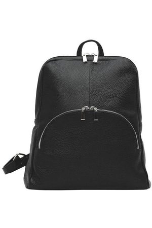 Sostter Women Purses & Wallets - Black Small Pebbled Leather Backpack