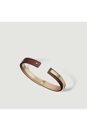 URSUL Men Bracelets - Leather bracelet Uraeus MATT BRASS