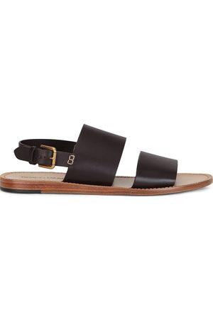 Dolce & Gabbana Men Sandals - Double-Strap Leather Sandals