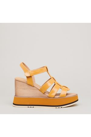 Paloma Barceló Women Wedge Sandals - Leather sandal with wedge 90 in leather and micro rubber