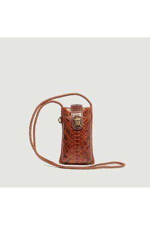CLARIS VIROT Marcus Double Phone Pouch Cognac