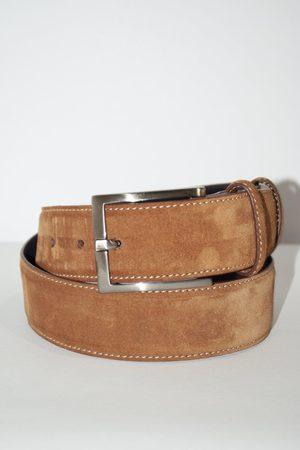 Elliot Rhodes Men Belts - Suede Belt Tan Colour: Tan