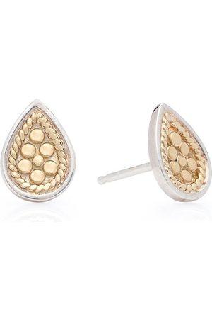 Anna Beck Women Earrings - Classic Teardrop Stud Earring - Silver & Gold Mix