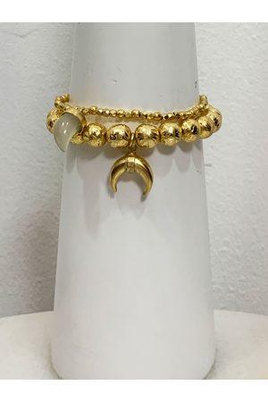 Ashiana Ashiana Bracelet Set with Horn Charms