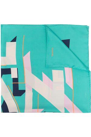CHANEL Geometric logo print silk scarf