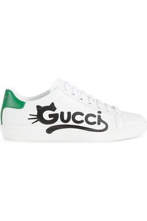 Gucci Women Trainers - Ace kitten-logo low-top sneakers