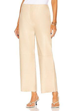 Totême Wide Leather Trouser in Cava